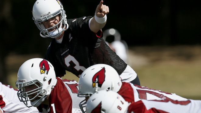 Carson Palmer lines under center for the Arizona Cardinals