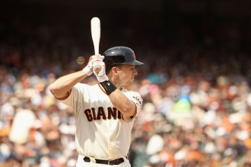 SAN FRANCISCO, CA - AUGUST 16: Buster Posey #28 of the San Francisco Giants bats against the Washington Nationals at AT&T Park on August 16, 2015 in San Francisco, California. (Photo by Ezra Shaw/Getty Images)