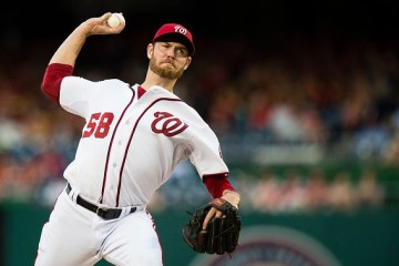 WASHINGTON, DC - JUNE 18: Doug Fister #58 of the Washington Nationals throws a pitch to a Tampa Bay Rays batter in the second inning of a baseball game at Nationals Park on June 18, 2015 in Washington, DC. (Photo by Patrick McDermott/Washington Nationals/Getty Images)