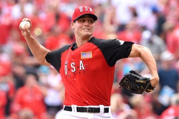 CINCINNATI, OH - JULY 12: Houston Astros prospect Mark Appel #26 of Team USA pitches during the SiriusXM All-Star Futures Game against the World Team at Great American Ball Park on July 12, 2015 in Cincinnati, Ohio. Team USA defeated the World Team 10-1. (Photo by Mark Cunningham/MLB Photos via Getty Images)