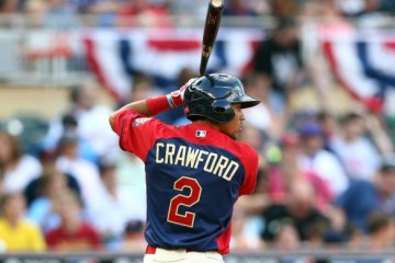 MINNEAPOLIS, MN - JULY 13: J.P. Crawford of the U.S. Team during the SiriusXM All-Star Futures Game at Target Field on July 13, 2014 in Minneapolis, Minnesota. (Photo by Elsa/Getty Images)