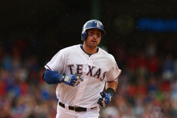 ARLINGTON, TX - JUNE 13: Joey Gallo #13 of the Texas Rangers runs the bases after hitting a homerun in the fourth inning against the Minnesota Twins at Globe Life Park in Arlington on June 13, 2015 in Arlington, Texas. (Photo by Ronald Martinez/Getty Images)