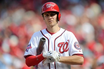 WASHINGTON, DC - SEPTEMBER 20: Trea Turner #7 of the Washington Nationals walks to home plate during the game against the Miami Marlins at Nationals Park on September 20, 2015 in Washington, DC. (Photo by G Fiume/Getty Images)
