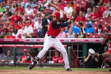 CINCINNATI, OH- JULY 12: Bradley Zimmer #5 of the U.S. Team bats during the SiriusXM All-Star Futures Game at the Great American Ball Park on July 12, 2015 in Cincinnati, Ohio. (Photo by Brace Hemmelgarn/Minnesota Twins/Getty Images)