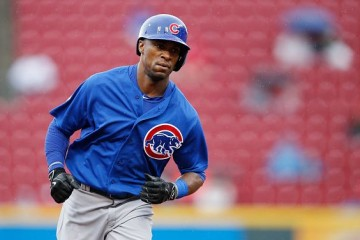 CINCINNATI, OH - OCTOBER 1: Austin Jackson #27 of the Chicago Cubs rounds the bases after hitting a three-run home run against the Cincinnati Reds in the third inning at Great American Ball Park on October 1, 2015 in Cincinnati, Ohio. (Photo by Joe Robbins/Getty Images)