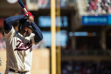 MINNEAPOLIS, MN - OCTOBER 03: Miguel Sano #22 of the Minnesota Twins bats against the Kansas City Royals on October 3, 2015 at Target Field in Minneapolis, Minnesota. The Royals defeated the Twins 5-1. (Photo by Brace Hemmelgarn/Minnesota Twins/Getty Images)