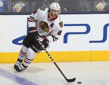 TORONTO, ON - JANUARY 15: Duncan Keith #2 of the Chicago Black Hawks skates during the warm-up prior to play against the Toronto Maple Leafs during an NHL game at the Air Canada Centre on January 15, 2016 in Toronto, Ontario, Canada. (Photo by Claus Andersen/Getty Images)