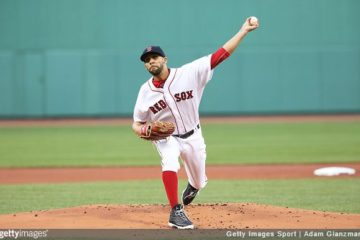 BOSTON, MA - MAY 12: David Price #24 of the Boston Red Sox delivers in the first inning during the game against the Houston Astros at Fenway Park on May 12, 2016 in Boston, Massachusetts. (Photo by Adam Glanzman/Getty Images)